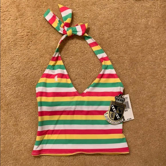 Juicy Couture Other - NWT Juicy Couture striped tankini top